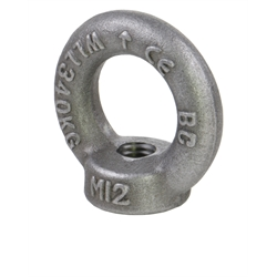 Závesné oká DIN 582 s maticou z ocele C15E výkovok photo