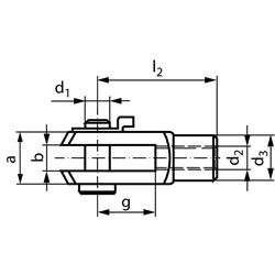 Vidlicové kĺby podľa DIN 71752, hliník, KL photo