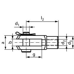 Vidlicové kĺby podľa DIN 71752, hliník, SL photo