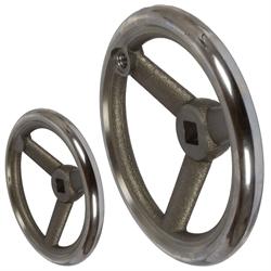 Lúčové ručné kolesá DIN 950 so štvorcovým otvorom, sivá liatina photo