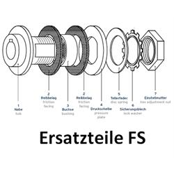 Náhradný trecí disk pre klzné náboje FS photo