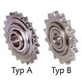 Napínacie reťazové kolesá KSP-R s ložiskom, jednoradové, nerez photo