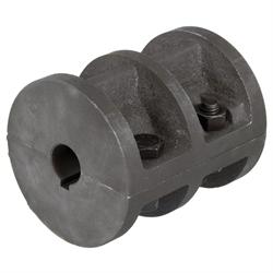 Zverné spojky (valcové spojky) DIN 115 vyrobené z liatiny, s drážkou photo