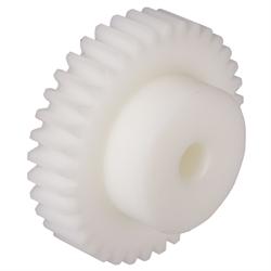Plast POM biely, frézovaný, Modul 0,5 až 3 photo