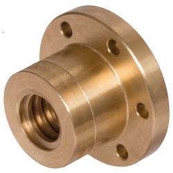 Přírub. matice EFM 2-chodé, s otvory na montáž s lich.závitem, bronz photo